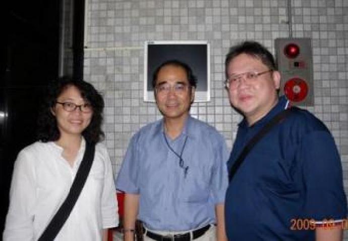 2009-09-05 環科系鴛鴦譜:*一等婚姻的完美結合---蔡永興(6屆)與劉雅蘭(7屆)賢伉儷
