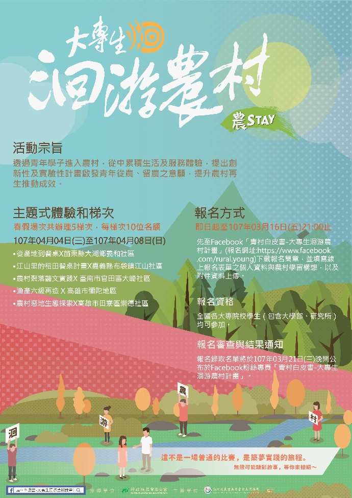 107年大專生洄游農STAY活動-春假梯次簡章